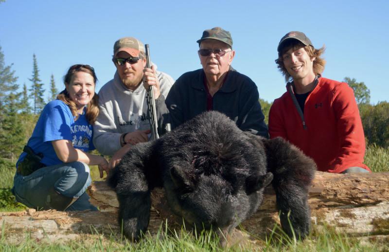 Bear hunting at Driftwood Lodge Resort.