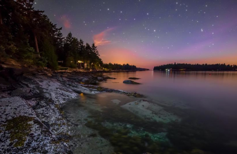Sunset at Galiano Oceanfront Inn and Spa.