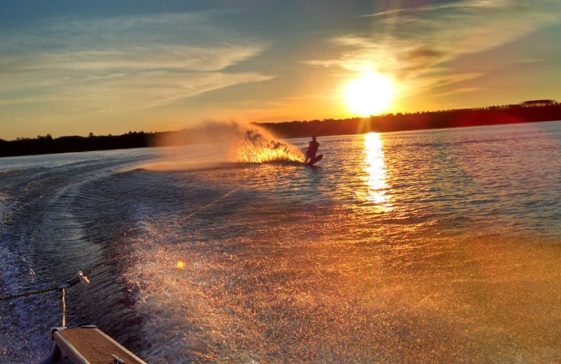 Water skiing at Sandy Pines Resort.