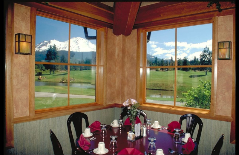 Dining at Mount Shasta Resort.