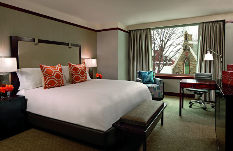 Guest room at The Ritz-Carlton Georgetown.