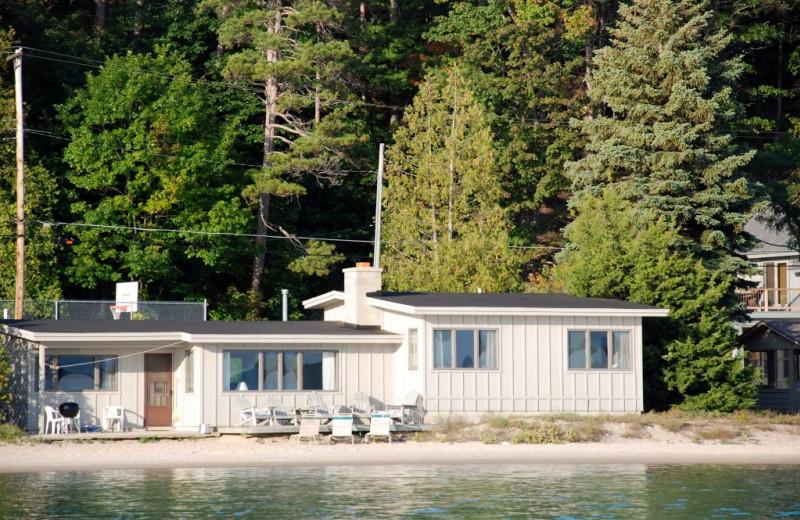 Cabin Exterior at Chimney Corners Resort