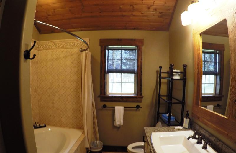 Guest bathroom at Morrell Ranch.