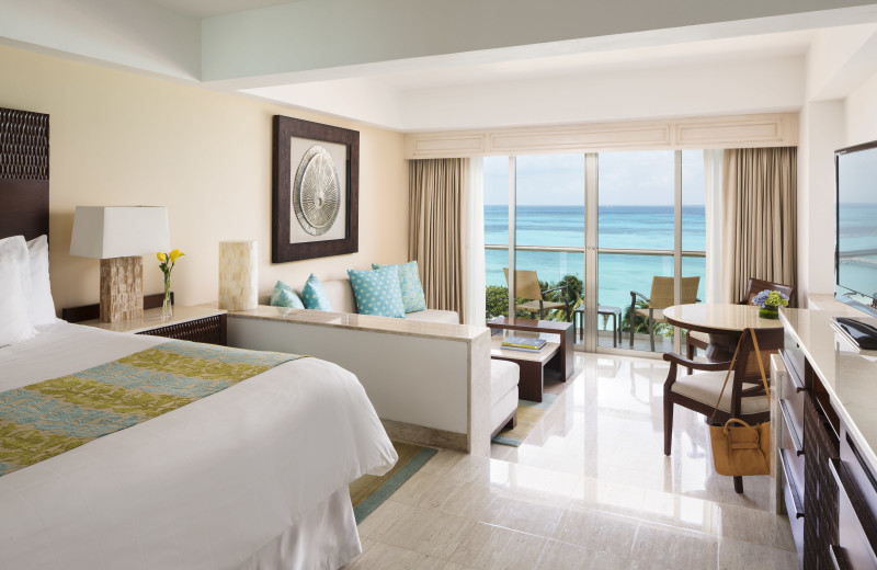 Guest room at Fiesta Americana Grand Coral Beach Cancun.