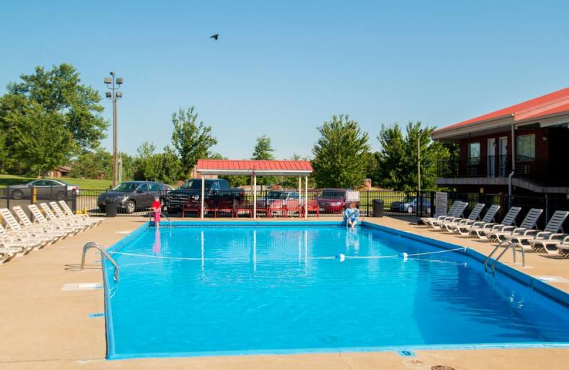 Outdoor pool at Bright Leaf Golf Resort.
