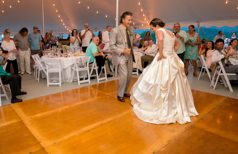 Wedding reception at Owl's Nest Resort & Golf Club.