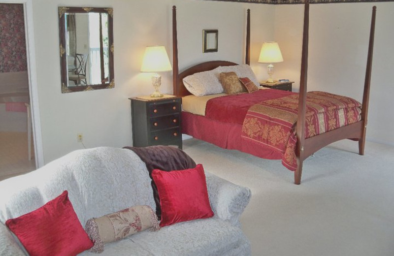Guest room at Sweetgrass Inn.