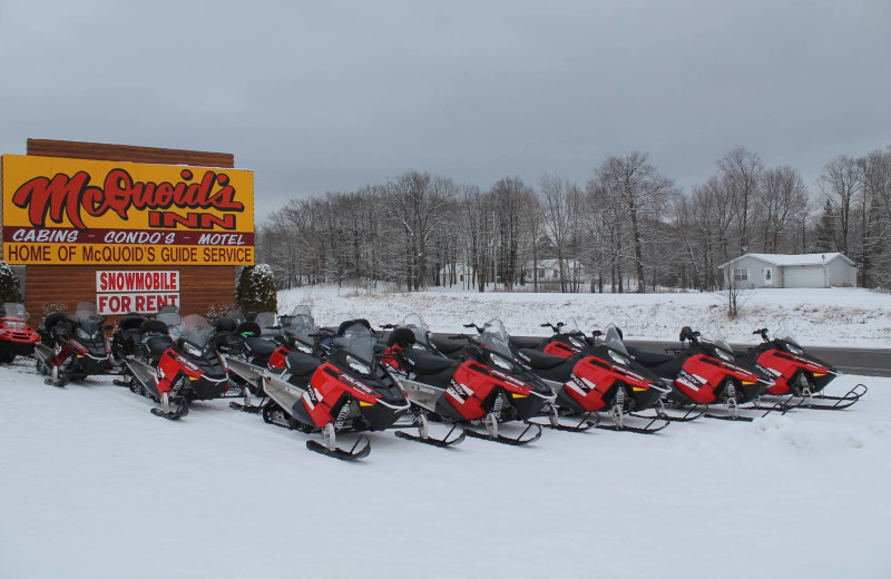 Snowmobiling at McQuoid's Inn & Event Center.