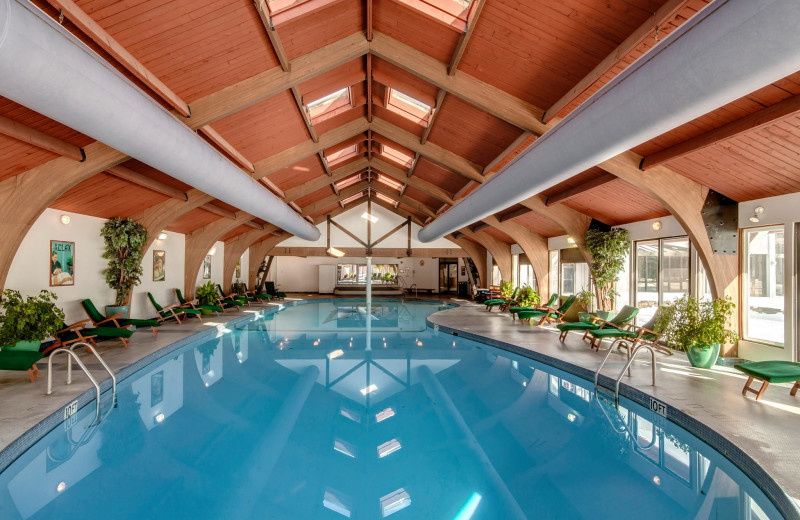 Indoor pool at The Shawnee Inn and Golf Resort.