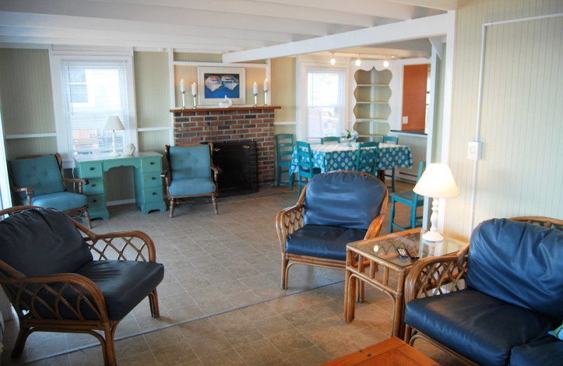 Cottage living room at Hawk's Nest Beach.