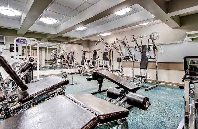 Fitness room at GetAway Vacations.