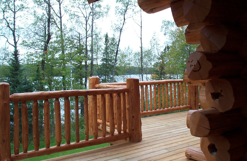 Cabin deck at Buckhorn on Caribou Lake.