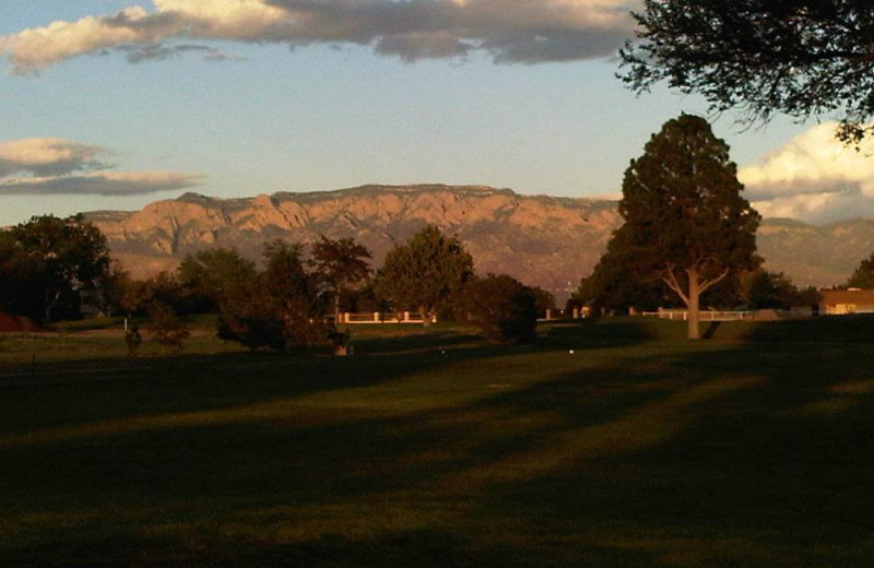 Mountain sunset at Inn at Paradise.