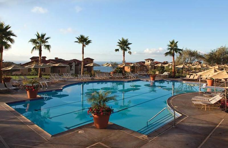 Outdoor pool at Marriott-Newport Coast Villas.