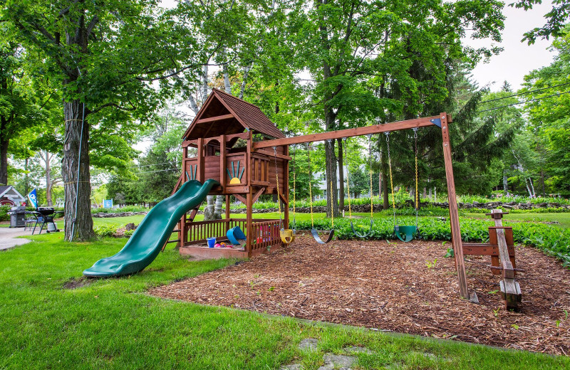 Playground at Waterbury Inn Condominium Resort.