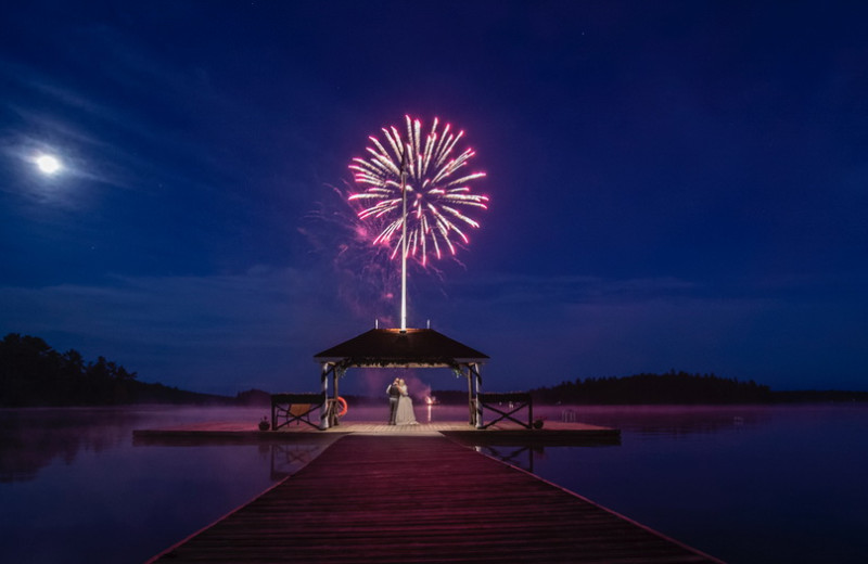 Fireworks at Severn Lodge.