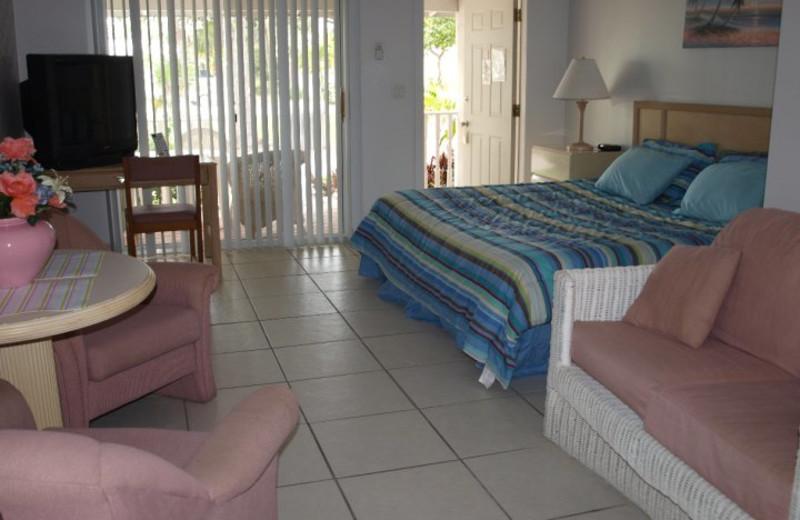 Guest room at Crystal Bay Resort.