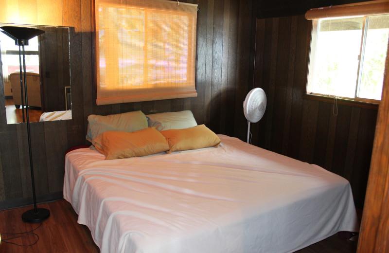 Guest bedroom at Hawks Landing Resort.