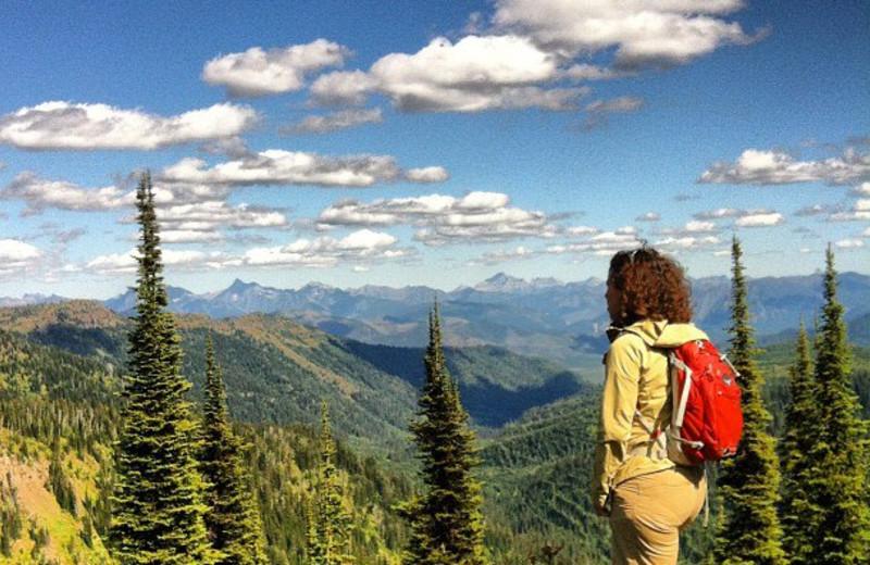 Hiking at Whitefish Mountain Resort.