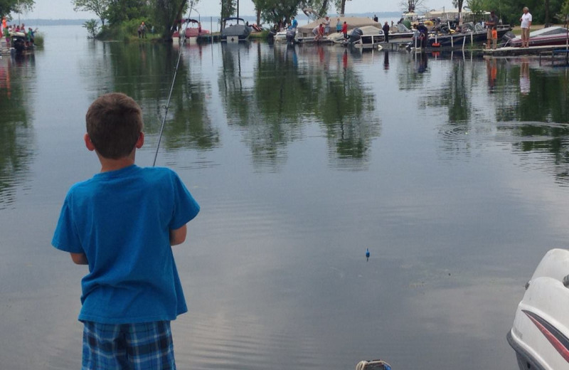 Fishing at Otter Tail Lake Camp.