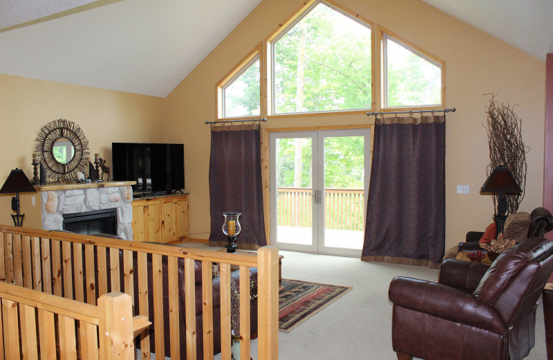 Guest living room at Big Sandy Lodge & Resort.