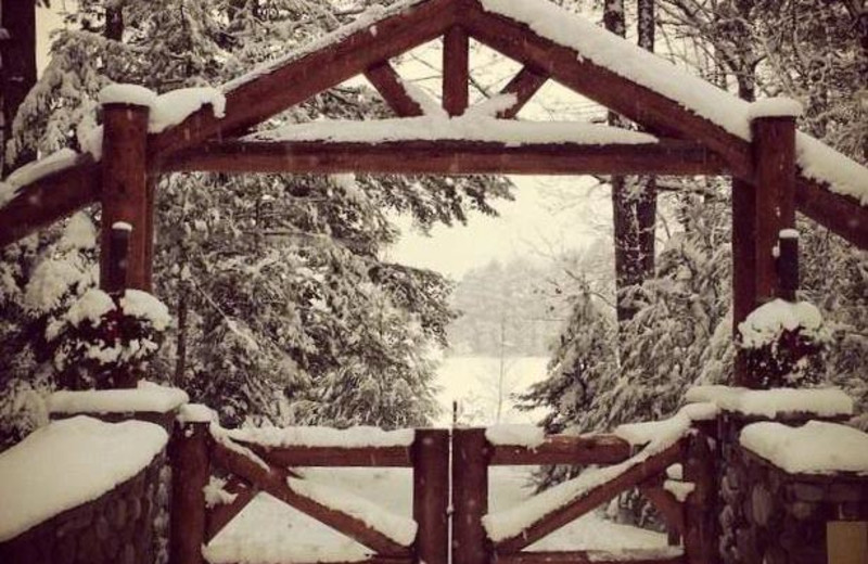 Winter gate at The Conger Collection.