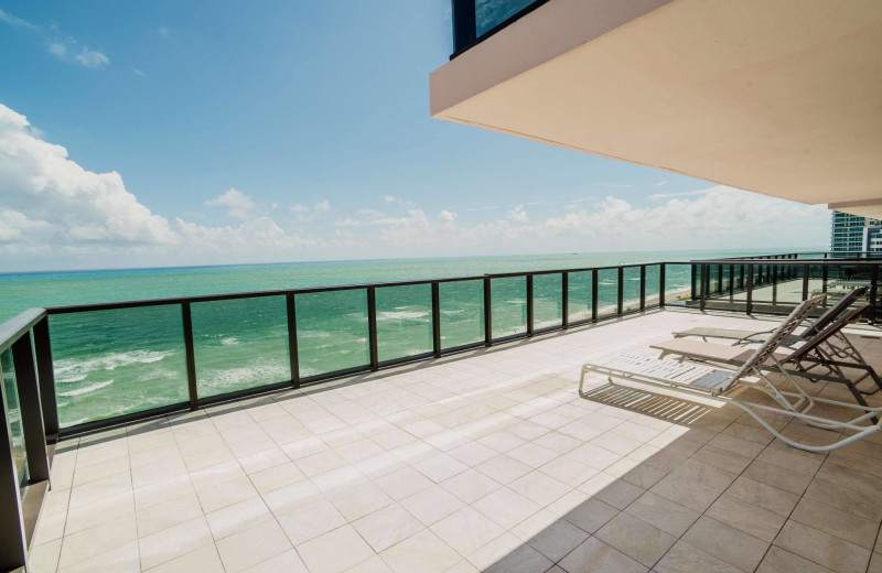 Balcony at The Alexander All Suite Oceanfront Resort.