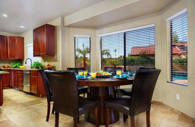 Rental dining room at Arizona Vacation Rentals.