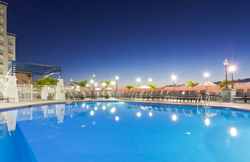 Outdoor pool at Holiday Inn Suites Ocean City.