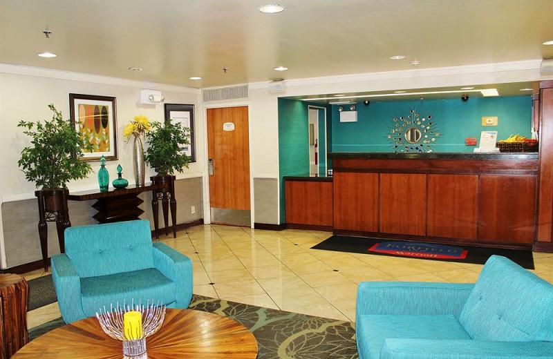 Lobby at Baymont Inn & Suites Flagstaff.