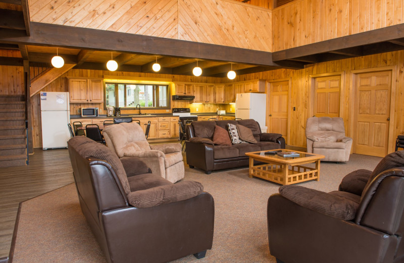 Cabin interior at Hiawatha Beach Resort.
