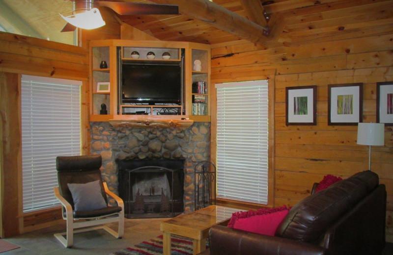 Cabin interior at Hochatown Junction Resort.