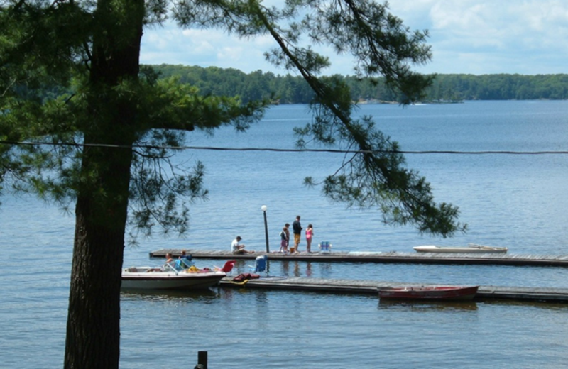 Fishing pier at Paquana Cottage Resort.