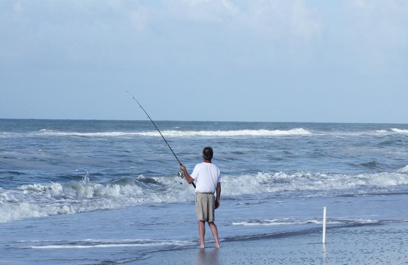 Fishing at Joe Lamb Jr. & Associates Vacation Rentals.