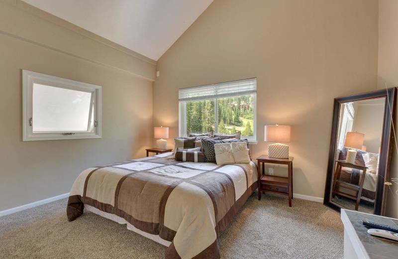 Rental bedroom at Lake Tahoe Accommodations.