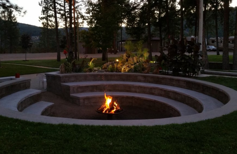 Fire pit at Powers Creek Retreat.