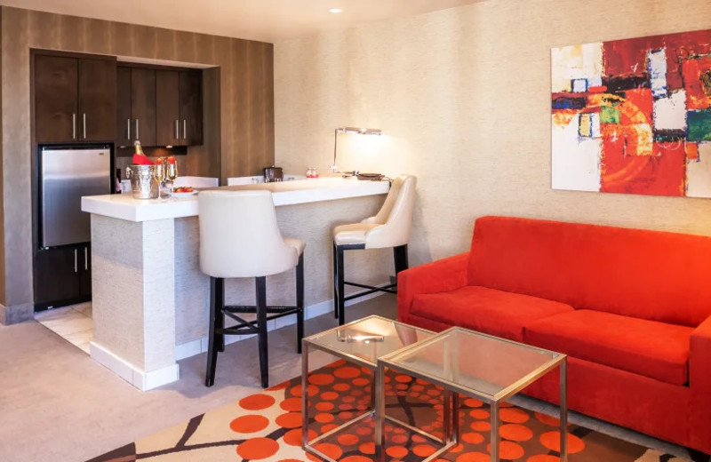 Guest room at Grand Sierra Resort and Casino.
