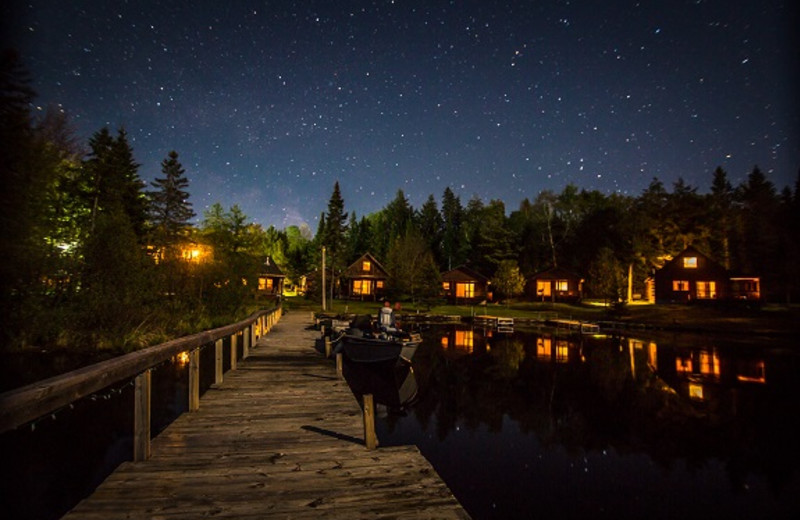 Night view at Wilderness Bay Lodge and Resort.