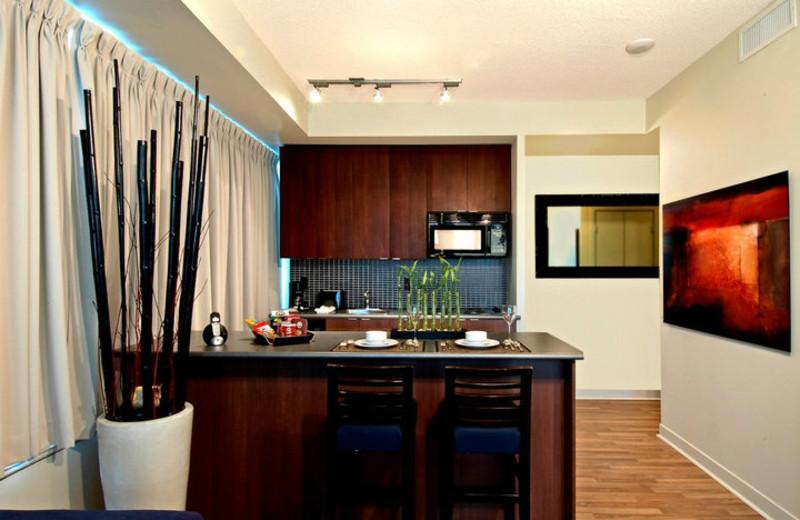 On Suite Kitchen at the Cosmopolitan Toronto