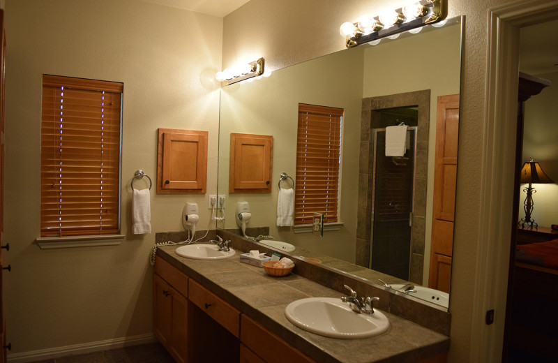 Guest bathroom at Flying L Hill Country Resort & Conference Center.