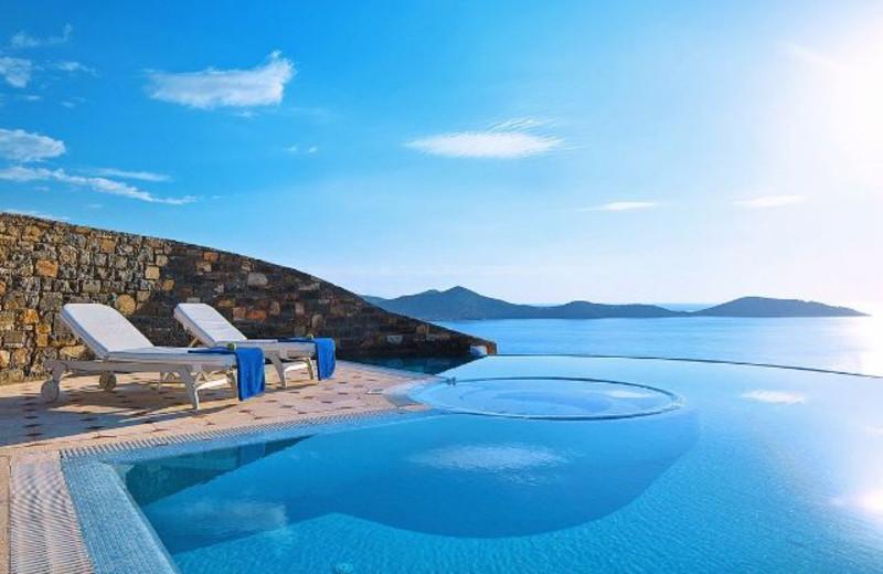 Outdoor pool at Elounda Gulf Villas & Suites.