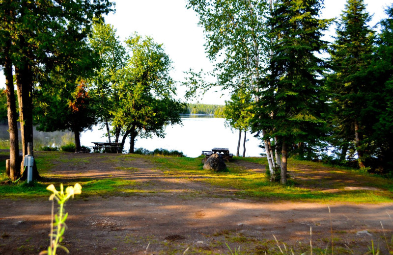 Campground at Nor'Wester Lodge & Canoe Outfitters.