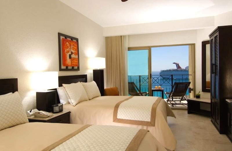 Guest room at Casa Dorada Los Cabos Resort & Spa.