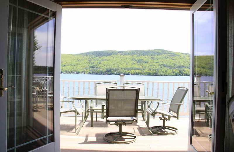 Balcony view at The Georgian Lakeside Resort.