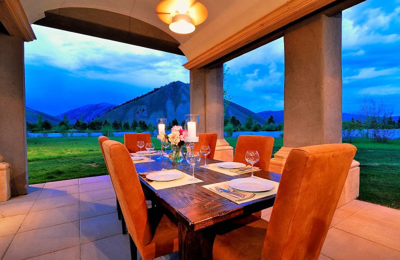 Dining at Distinctive Properties of Sun Valley.