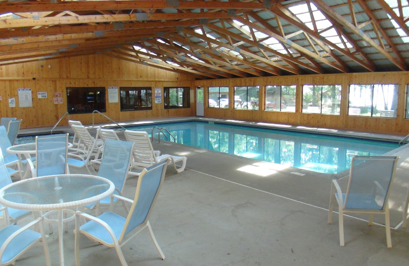 Indoor pool at Acorn Hill Resort.