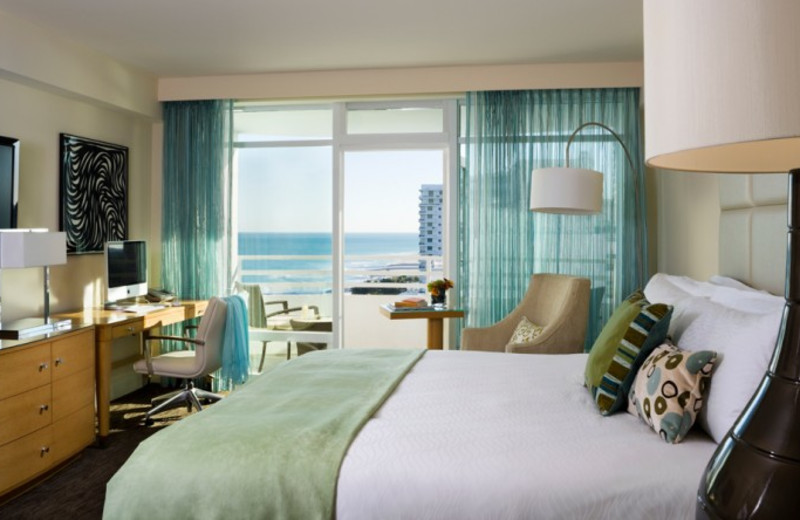 Guest room at Fontainebleau Hotel and Resort.