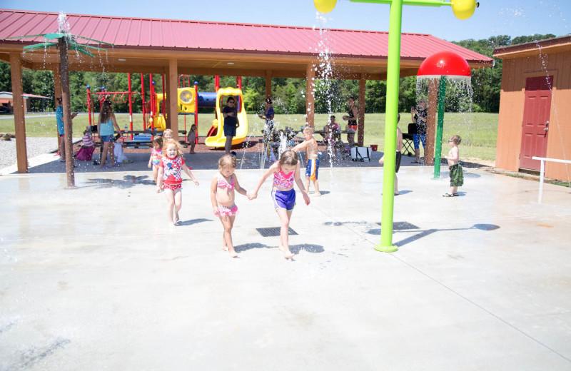 Splash pad at Long Lake Resort.