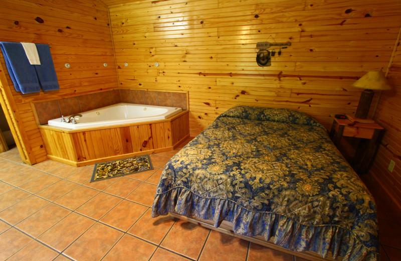 Cozy cabin at Ozark Cabins.