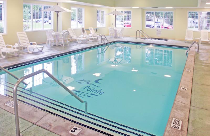 Indoor pool at Bay Pointe Inn Lakefront Resort.